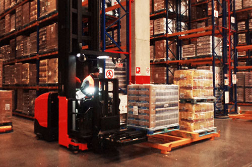 Scanner on forklifts for increasing security and efficiency